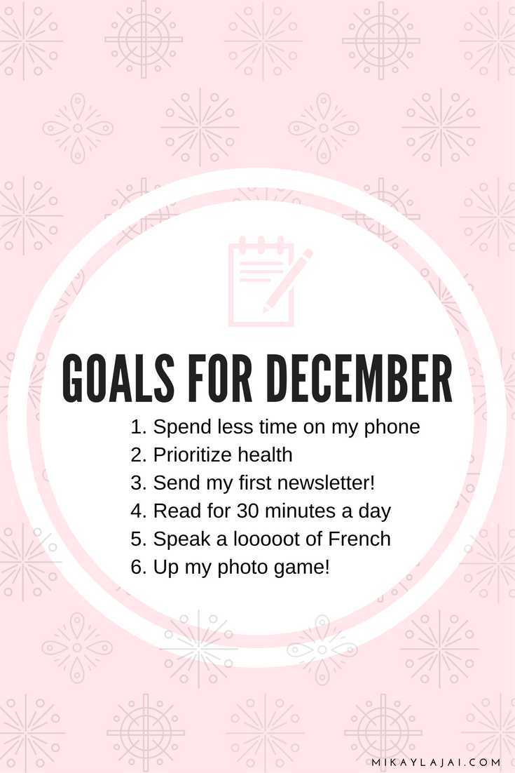 My December goals for crushing the end of the year and staying motivated through the holidays.