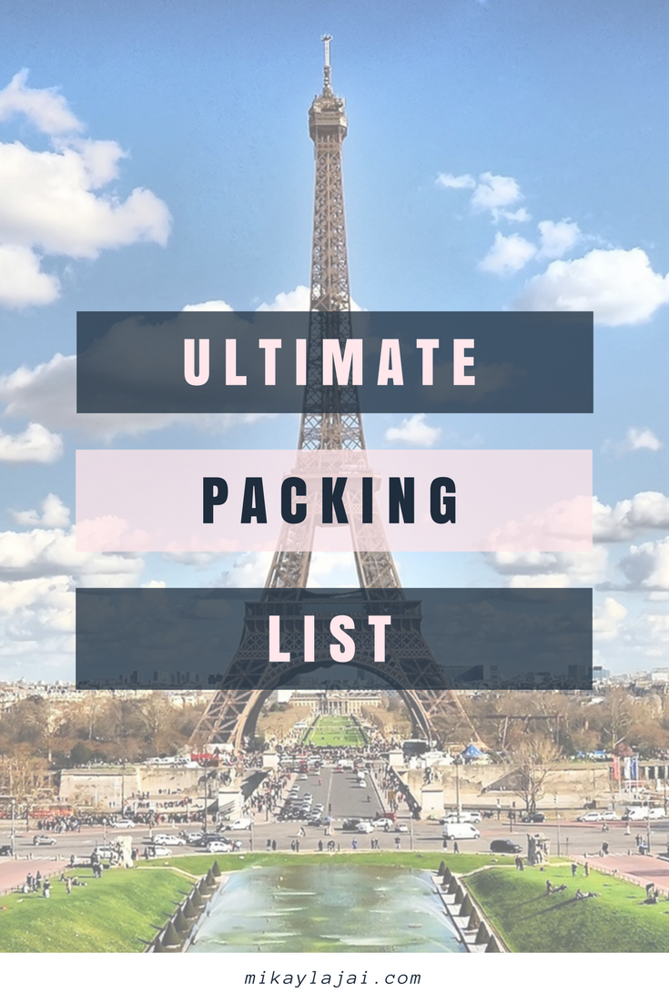 ultimate packing list for busy travelers in school
