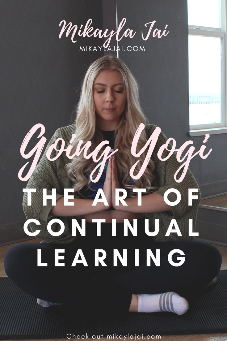 yoga for beginners, learning new things constantly